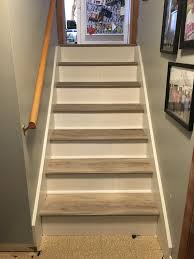 how do you put vinyl flooring on stairs photos freezer and stair