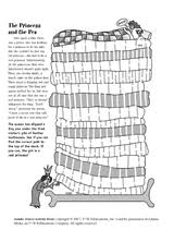 princess and the pea coloring page. princess and the pea maze. brings back memories! coloring page