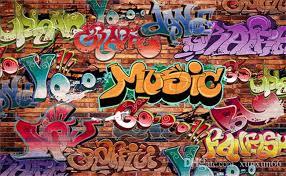 brick wallpaper graffiti