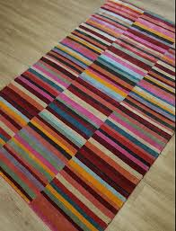 red multi striped rug tap to expand