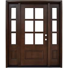 home depot front doors with sidelightsSteves  Sons 60 in x 80 in Savannah 6 Lite Stained Mahogany