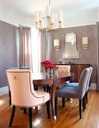 art deco dining room with wall sconce beige lester dining chairs pair hardwood art deco dining