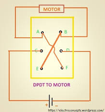 how to control a dc motor using dpdt switch electroconcepts edited dpdt to motor connection