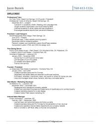 Restaurant Resume Sample