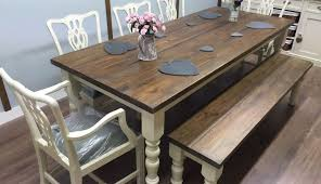 rustic dining bench white centerpiece chairs decor turned legs large round small mod expandable black room
