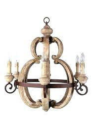 chandeliers country chandelier lighting french cottage style aged large round wood light fixture