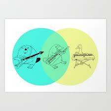 Art Venn Diagram Keytar Platypus Venn Diagram Art Print By Jamesmichals Society6