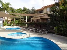 noosa gardens riverside resort sunshine coast solar heated pool and gas heated spa