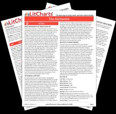 the alchemist study guide from the creators of sparknotes the printed pdf version of the litchart on the alchemist ""