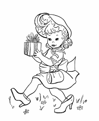 Small Picture BlueBonkers Kids Birthday present Coloring Page Sheets Girl