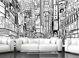 new york city mural wallpaper black and white wall murals you ll