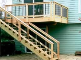 outstanding deck with stair design for outdoor home decoration