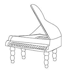 Small Picture Musical Instruments Grand Piano Coloring Pages Bulk Color