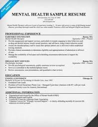 Mental Health Support Worker Sample Resume
