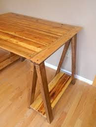 Distinctive Sawhorse Desk Leg Design