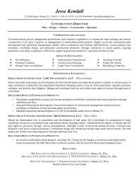 Construction Superintendent Resume Examples And Samples Backdrafts