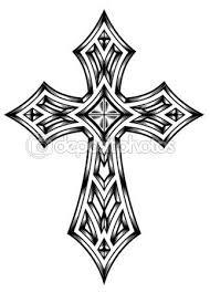Heraldický Kříž Stock Ilustrace 44609435 Mix Tatto Tetování