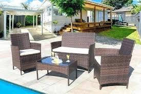 outdoor patio furniture indoor outdoor patio furniture 4 outdoor patio furniture set rattan chair wicker indoor use for backyard outdoor patio