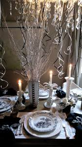 festive New Year's Eve table decoration