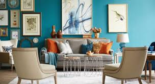 colorful living room. accent furniture, colorful living room, cozy fall decor, gallery wall, jewel tones, rugs, wall art room
