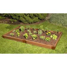 composite raised garden bed.  Bed Raised Garden Bed 4u0027X8u0027 Rectangle 1 Level 2u0027 Profile Frame  Throughout Composite R