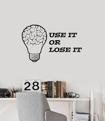 office wall stickers. Vinyl Wall Decal Brain Quote Office Home Motivating Inspiring Decor Stickers  Mural (ig5433) Office Wall Stickers