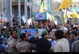 Image result for پیکرهای پاک ۵ شهید مدافع حرم در ۵ شهرقم تشییع  شد