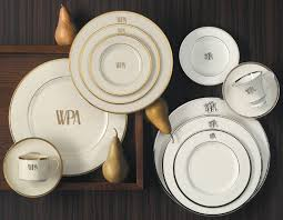 signature monogram dinnerware gracious style