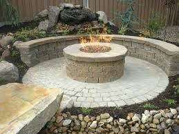 paver patio with gas fire pit. Paver Patio And Walls Contractor Natural Gas Firepit Fire Pit Pavers With Images Pictures Ideas