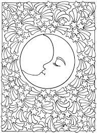 Luna Stelle Mandala Per Rilassarsi Disegni Da Colorare Colori E