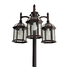 portfolio outdoor lamp post light fixture 3 lights lantern with post 5
