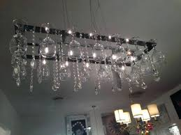 diy wine glass chandelier large size of home