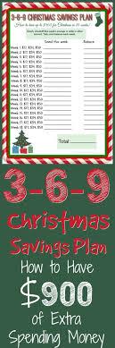 Christmas Savings Plan Chart 3 6 9 Debt Free Christmas Savings Plan With Free Printable