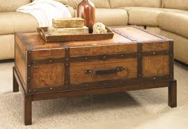 coffee table trunk tables end amazing chest wooden tre