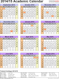 Academic Calendars 2014 2015 Free Printable Word Templates