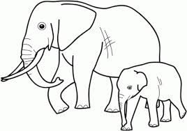 Small Picture Coloring Page Of Elephant Printable Kids Colouring Pages Coloring