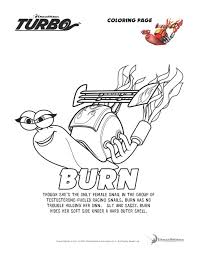 Turbo Burn Coloring Page