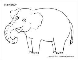 African elephant can live 80 years. Elephant Free Printable Templates Coloring Pages Firstpalette Com