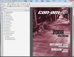 can am outlander renegade 2008 workshop manual wiring workshop service repair manual wiring