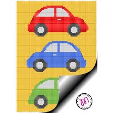 Crochet Chart C2c Graphghan Three Cars