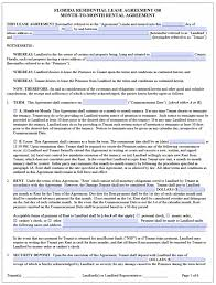 Rental Lease Agreements Free Florida Residential Lease Agreement Template PDF Word 15