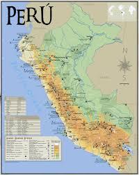 large tourist map of peru  peru  south america  mapsland  maps
