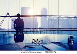image professional office. businessman thinking professional office corporate concept image