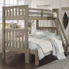 the highlands harper bunk with full sized bottom and twin sized top