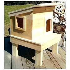 cat house plans outdoor this promises days of feral shelter easy diy picture building box f
