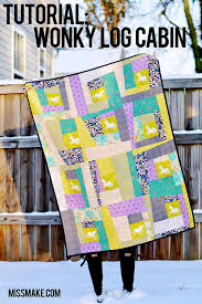 Miss Make: Tutorial: Wonky Log Cabin Quilt & Tutorial: Wonky Log Cabin Block Adamdwight.com