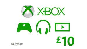 Microsoft Giftcard Xbox Live 10 Gbp Gift Card Uk