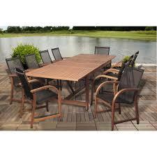 amazonia extendable 7 piece patio dining set. amazonia richards rectangular 9-piece eucalyptus extendable patio dining set-sc ley_8manha - the home depot 7 piece set g