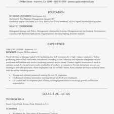 Entry Level Management Resume Examples Business Management Resume Resume Sample