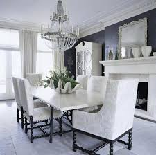 how gorgeous is this silver plate and crystal chandelier in an all white room traditional home
